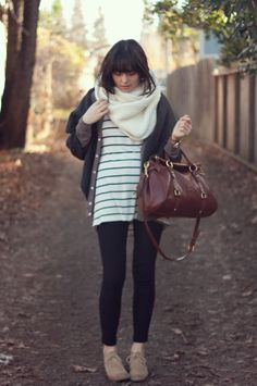 I love the scarf and the bag!