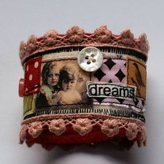 Fabric Cuff - Folksy would be personal with moms teen pic