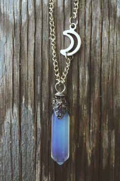 Collar de cristal colgante joyas piedra cuarzo por SavannahAvril
