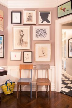 """A Look at Andy and Kate Spade's Art Collection: """"We've been here a little over 15 years. We were living downtown in Tribeca. We'd never lived above Spring Street, but we were planning on having a family. Kate said, 'I really want to have Woody Allen's New York life.' I've dreamt of that—we're both not from New York. She said, 'I want to be around trees and the park.' So, we asked a friend to show us apartments. We didn't know where we'd end up!"""" 