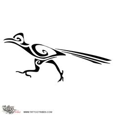 TATTOO TRIBES: Tattoo of Roadrunner, Speed, runner tattoo,roadrunner speed agility runner tattoo - royaty-free tribal tattoos with meaning Southwest Image, Southwest Art, Southwest Quilts, Road Runner Bird, Runner Tattoo, Tribal Tattoos With Meaning, Indian Symbols, Bird Drawings, Native American Art