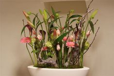 Ovaal, lelies, tulpen Voorjaar in ovalen schaal