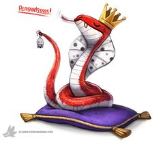 Daily Paint #995. King Cobra (OA) by Cryptid-Creations Time-lapse, high-res and WIP sketches of my art available on Patreon (: