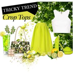 """Crop top"" by lelouka on Polyvore"