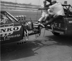 Yenko Camaro Funny Car fail