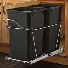Rev-A-Shelf Double 27 Quart Pullout Waste Container