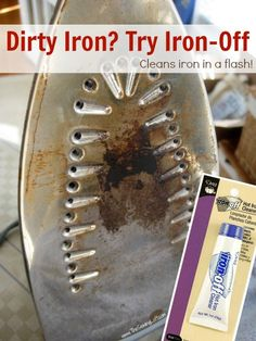 Great post from @Heather Creswell Valentine | Dirty Iron? Try Iron Off from @Danielle Ritzman Sewing