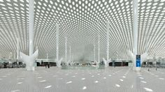 Shenzhen Bao'an International Airport – Terminal 3 – by FUKSAS - I Like Architecture Le Terminal, Airport Terminal 3, Terminal Velocity, Shenzhen Airlines, Flight Take Off, Airport Design, Shenzhen China, Architecture Wallpaper, Wallpaper Magazine