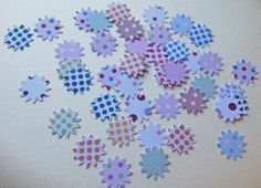 Card Shapes For Craft,Sunflowers in Spotted Prints,Assorted Colours,100pk £1.20