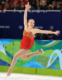 Rachael Flatt -Red Figure Skating / Ice Skating dress inspiration for Sk8 Gr8 Designs.