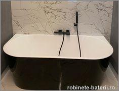 Cada de baie freestanding Calais alb-negru Clawfoot Bathtub, Bathroom, Washroom, Full Bath, Bath, Bathrooms