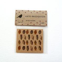 owl nail transfers. £2.95, via Etsy.