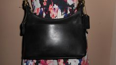 "VINTAGE COACH 9"" x 7"" Black Leather Shoulder Bag F2P-9136 by COACHCROSSING on Etsy"