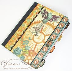 Scraps of Life - September Blog Hop - G45 Steampunk Debutante and hoarded composition notebook