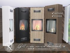 by SIMcredibledesigns.com Found in TSR Category 'Sims 4 Fireplaces'