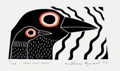 """Crow Went Home"" by Ahmoo Angeconet Inuit Kunst, Inuit Art, Toronto Art Gallery, Woodland Indians, Coffee Branding, Indigenous Art, First Nations, Superhero Logos, Bellisima"