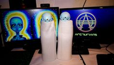 My Arcturian Statues