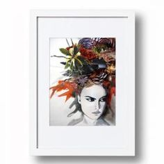Collage Portrait #1 | Signed Artist's Print | Various Sizes for Easy Framing | Sarah Carter Jenkins