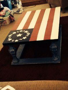 Colonial flag coffee table