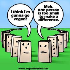 Domino Effect vegansidekick