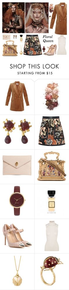"""Floral Queen"" by therealmodishmiss ❤ liked on Polyvore featuring MaxMara, Sigma, STELLA McCARTNEY, Alexander McQueen, Dolce&Gabbana, Nine West, Valentino, Hanro, Spartina 449 and Fall"