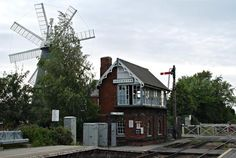 Heckington windmill and station, Lincolnshire