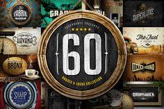 20% Off - 60 Badges & Logos Bundle by Easybrandz on @creativemarket