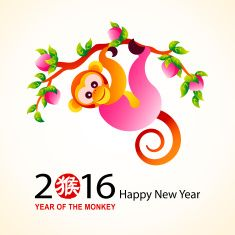Chinese New Year 2016 Monkey Illustrations, Royalty-Free Vector Graphics & Clip Art Chinese New Year Zodiac, Chinese New Year 2016, Chinese Zodiac Signs, New Years 2016, Rainbow Chinese, Chinese Celebrations, Monkey Illustration, Monkey Pictures, Monkey Tattoos