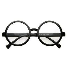 37373aea2ed24 Vintage Inspired Eyewear Round Circle Clear Lens Glasses Eyeglasses (Black)