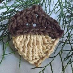 Level 14 - Acorn - Crochet Applique / Motif / Garland