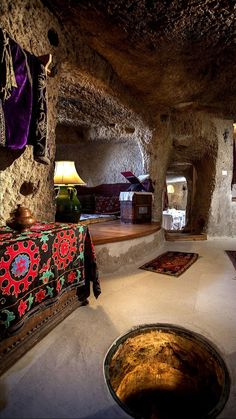 The only Relais & Chateaux hotel in Cappadocia and Turkey, the most exclusive luxury boutique cave hotel in Cappadocia with a unique living-museum concept. Whisky Spender, English Cottage, Cave Hotel, Museum Hotel, Secret House, Underground Homes, European Home Decor, Earth Homes, Decoration
