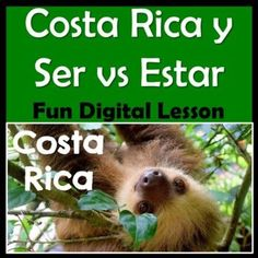 This Google Slides Spanish Costa Rica and Ser & Estar Mini Unit includes a lesson about this beautiful Central American country, some high interest videos and a cute story about Lucía, a sweet little Costa Rican sloth. This digital lesson has cultural information about Costa Rica including animals, the capital, monetary unit, nationality, health care, cool Costa Rican sayings, schools, and more!