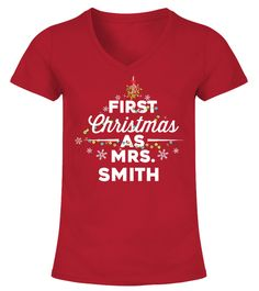 # First Christmas As Mrs. - Customised .  Personalised Christmas Jumper - FIRST CHRISTMAS AS MRS...Guaranteed safe checkout:PAYPAL|VISA|MASTERCARDClick the green button to pick your style, size &colour!