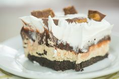 peanutbutter cup icebox cake +25 MORE peanut Butter Chocolate Desserts