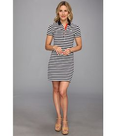 871bedc24ea9f Lacoste short sleeve stretch pique stripe polo dress. Camisa Polo Para  MulheresRoupas ...