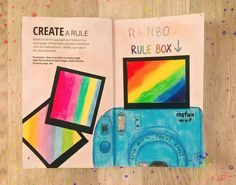Polaroid Instax, Create This Book, Wreck This Journal, Art Journal Pages, Acrylic Painting Canvas, Book 1, Rainbow Colors, Journals, Symbols