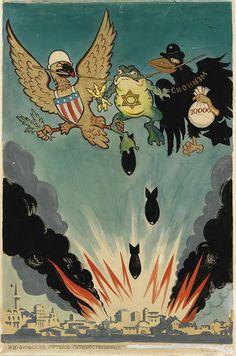 Смотреть коллекцию Political Posters, Political Satire, Propaganda Art, Old School Cartoons, Socialist Realism, Anti Religion, Modern Warfare, Military Art, Time Art