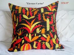 Items similar to Otomi CACTUS multicolor - handmade - handembroidery - - otomi decorative pillow - Multicolor Cactus - Orange Red Green - Throw pillow on Etsy Orange Red, Red Green, Cactus, Green Throw Pillows, Print Ideas, Decorative Pillows, Embroidery, Trending Outfits, Unique Jewelry