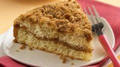 Bisquick Double-Streusel Coffee Cake You asked for it and we doubled it! Twice the cinnamon-sugar in the middle and on top adds extra sweetness to a melt-in-your-mouth coffee cake. Cake Recipes, Dessert Recipes, Desserts, Breakfast Recipes, Ww Recipes, Breakfast Ideas, Healthy Recipes, Breakfast Pastries, Sweet Breakfast