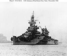 Battleship USS Arkansas (BB-33), 1944