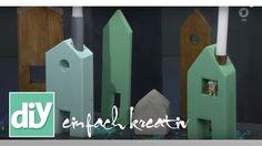 Kerzenhäuser aus Holz | DIY einfach kreativ