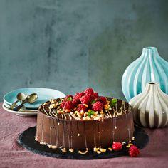 Maapähkinä-suklaajäätelökakku | K-ruoka