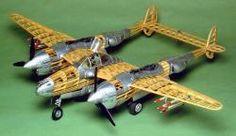 P38 Lightning Balsa Model Kit