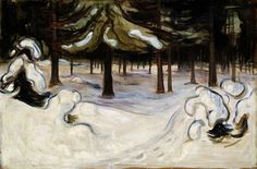 "Edvard Munch: ""Winter"", (The National Museum, Oslo) Edvard Munch, Winter Landscape, Landscape Art, Landscape Paintings, Landscape Posters, List Of Paintings, Art Paintings, Nordic Art, Scandinavian Art"