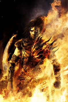 View an image titled 'Prince in Flames Art' in our Prince of Persia: The Two Thrones art gallery featuring official character designs, concept art, and promo pictures. Prince Of Persia, Dark Fantasy Art, Fantasy Rpg, Fantasy Images, Geeks, Character Inspiration, Character Art, Fantasy Inspiration, Foto Top