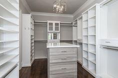 Closet Creations designed this custom closet