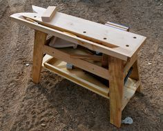 A portable saw bench / mini workbench by George Crawford (Paleotool)