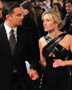 Leonardo DiCaprio and Kate Winslet Revolutionary Road UK film premiere held at the Odeon Leicester Square - Arrivals Leonardo And Kate, Kate Winslet And Leonardo, Leonardo Dicaprio Kate Winslet, Leonardo Dicaprio Photos, Hollywood Couples, Hollywood Stars, Hollywood Actresses, Actors & Actresses, Leo And Kate