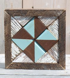 quilt block wall hanging, wooden barn quilt block, rustic wall decor, by…