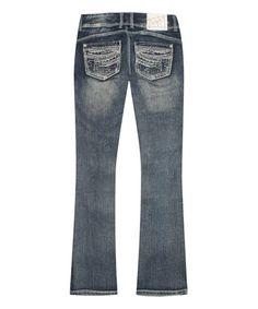 Look what I found on #zulily! Dark Blue Sicily Bootcut Jeans - Plus #zulilyfinds